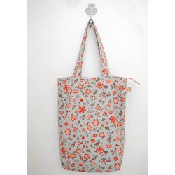 Summer handmade flower cotton bag
