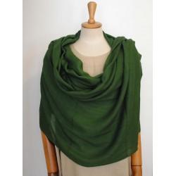 Green 100% woolen Scarf - Shawl
