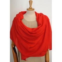 Red 100% woolen Scarf - Shawl