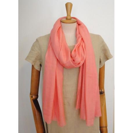 Pink 100% woolen Scarf - Shawl