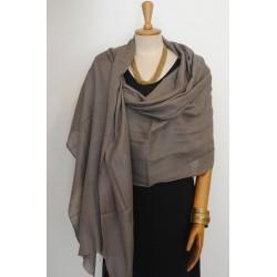 Grey 100% woolen Scarf - Shawl