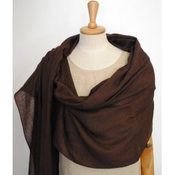 Brown 100% woolen Scarf - Shawl