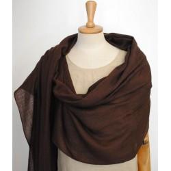 Brown 100% woolen Scarf - Shawl
