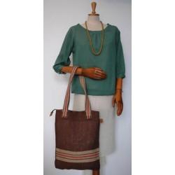 Woman´s bag brown Burlap