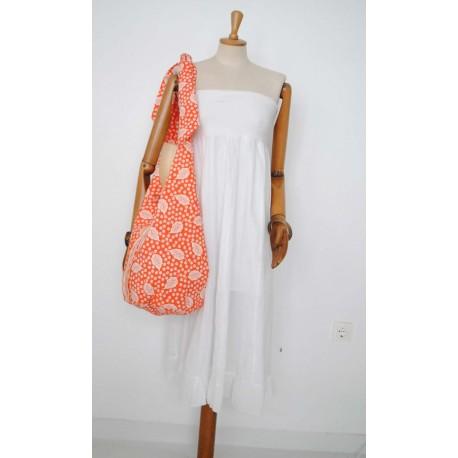 Handbag Orange - Handmade