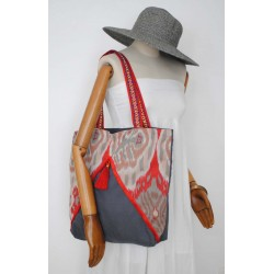 38€ Red Cotton Boho Handbag - Women's Handmade bags