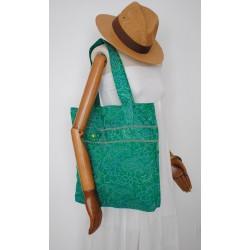 Πράσινη Υφασμάτινη γυναικεία τσάντα - Χειροποίητες τσάντες