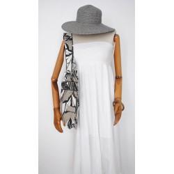 Λευκή & Γκρι γυναικεία τσάντα - Χειροποίητες τσάντες Α&Μ