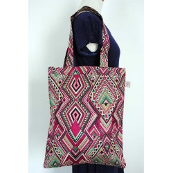 Fuchsia Cotton Handbag - Women's Handmade bags