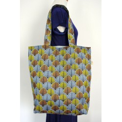 eb795de6c1 Καφέ υφασμάτινη γυναικεία τσάντα -... Καφέ γυναικείες τσάντες boho -  Χειροποίητες ...