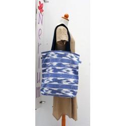 Μπλε και Λευκή double face τσάντα - Χειροποίητες τσάντες Rednerium