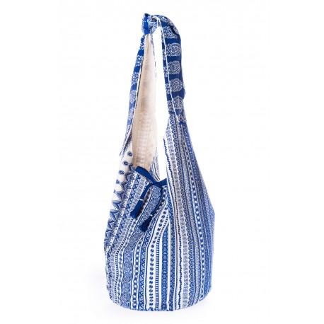 Blue white shoulder bag summer 2018