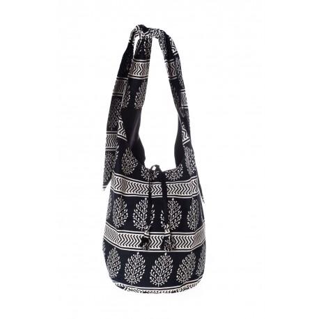 Black handmade shoulder bag summer 2018
