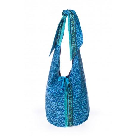 Light Blue & Turquoise handmade shoulder bag summer 2018