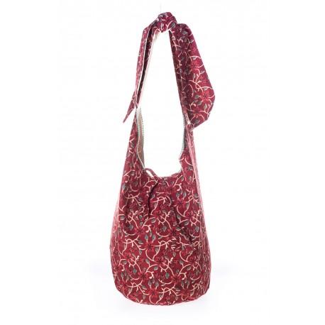 Bordeaux floral handmade shoulder bag collection 2018