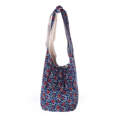 Blue floral handmade shoulder bag collection 2018