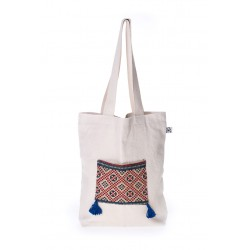 White canvas handmade bag summer 2018