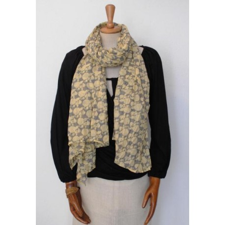 Pink & Yellow women´s Scarf - Pareo