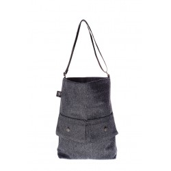 Dark Grey handmade bag summer 2018