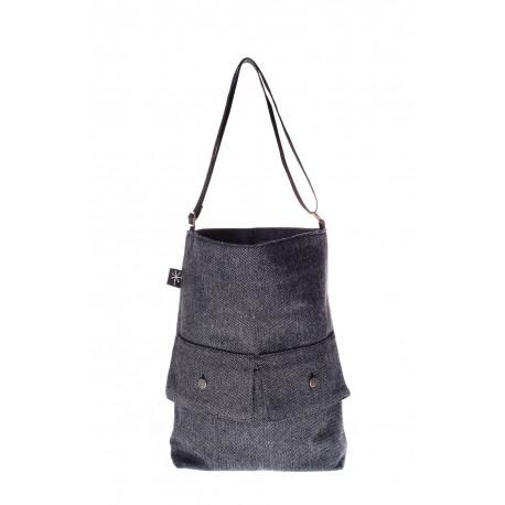 Dark Grey handmade bag summer 2018