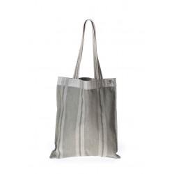Grey Strip handmade handbag A&M Rednerium