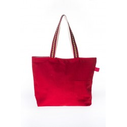 Red cotton handbag A&M Rednerium