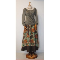 Floral wrap around skirt